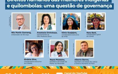 Nesta sexta (29), às 10h, vai acontecer a primeira live do ano da ONU Mulheres Brasil