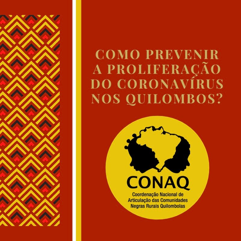 Conaq publica novas cartilhas com orientações relacionadas a Covid-19 e ao Auxílio Emergencial