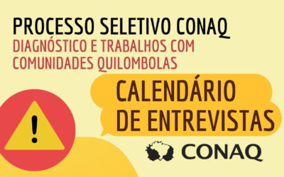 Comissão organizadora torna público o calendário de entrevistas