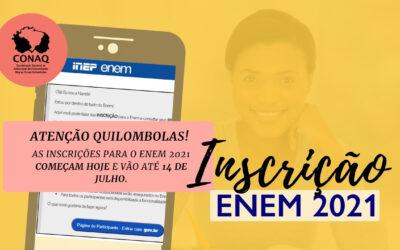 ENEM 2021: INEP ABRE PERÍODO DE INSCRIÇÕES PARA O EXAME NACIONAL